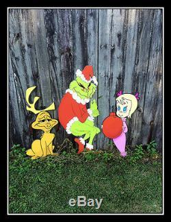 Grinch Stealing Christmas CHRISTMAS YARD ART Printed on PVC READY TO SHIP