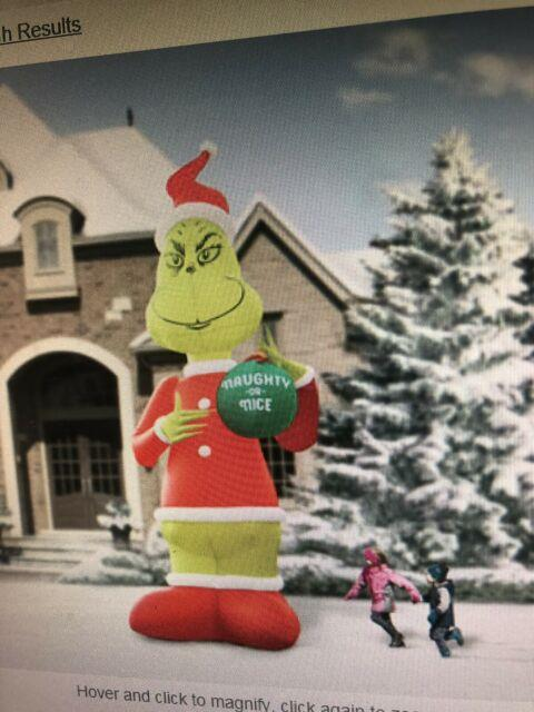 Grinch Xl 18 Foot Xmas Inflatable Grinch, New