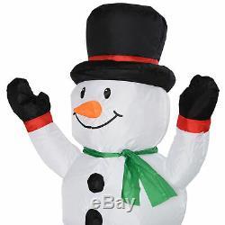 HOMCOM 11' Long Christmas Inflatable Train Santa Snowman Penguin LED