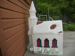 HTF Vintage Empire Christmas Church Chapel Blow Mold with2 Cords Yard Lights Decor