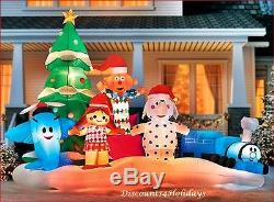 HUGE! Rudolph The Rednose Reindeer Island of Misfit Toys Christmas Inflatable