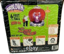 Halloween Gemmy 2006 Airblown Inflatable Whirlwind Globe Light Up 6' Tall Ghost