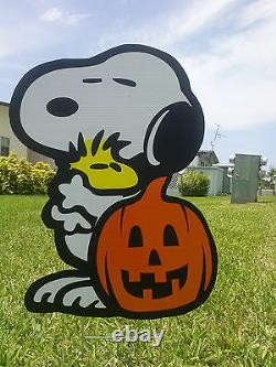 Halloween Great Pumpkin COMBO yard Snoopy with Charlie Brown, Lucy Decorations