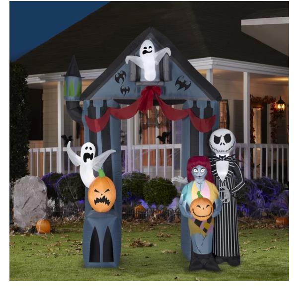 Halloween Self-inflatable Disney Archway Nightmare Before Christmas Yard Decor