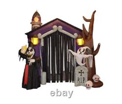 Halloween Self-Inflatable Haunted House Decoration with Internal Lighting