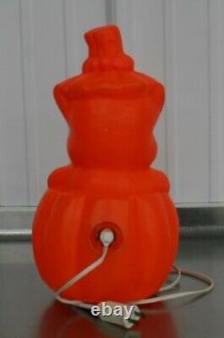 Halloween Vintage Rare Cat Kitten Jack O Lantern Blow Mold Pumpkin 1960s JOL