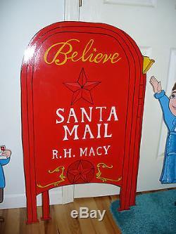 Hand Made 4-piece. Macy's Virginia, Ollie, Mail Box, & Meter Christmas Yard Art