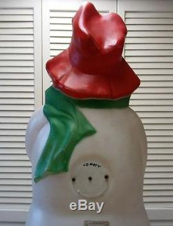 Hobo Snowman With Daisy Blow Mold -Empire App. 40 Ht. With Cord HTF -Rare