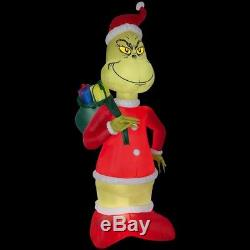 Holiday 8 ft Inflatable Grinch in Santa Suit NEW Sack Decoration, XMAS, Blow-up