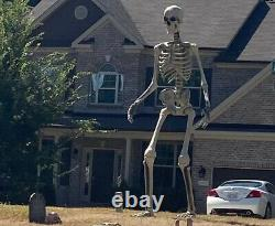Home Depot 12 Foot Tall Giant Skeleton with Animated LCD Eyes 2021 Model FREE SHIP