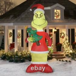 IN HAND Dr. Seuss The Grinch 11 Foot Tall LED Inflatable by Gemmy Industries