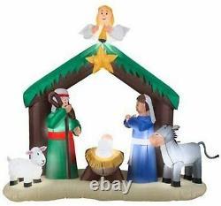 Inflatable Airblown Christmas Decor 7 Ft Nativity Scene Holiday Xmas Decorations