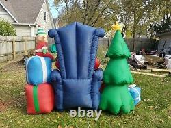 Inflatable Airblown Santa Claus Chair Christmas Tree Elf Present Blow Light Up