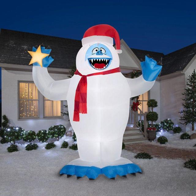 Inflatable Bumble With Santa Hat 12 Ft. Tall Self Inflates Christmas Holiday