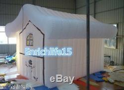 Inflatable Santa Grotto Inflatable Christmas House with Print Windows