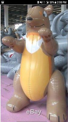 Inflatable shiny Bear 3 meters not airblown