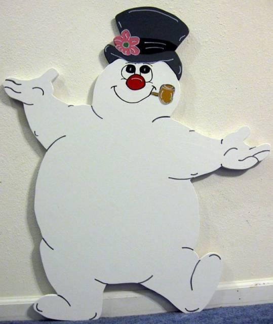 Items Made After Purchase Frosty Snowman Winter Christmas Yard Art Decoration