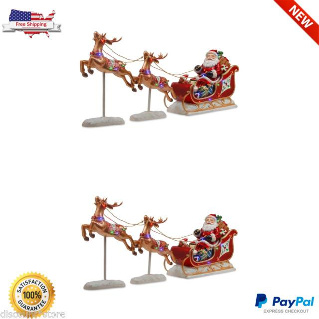 Led Christmas Lighted Decoration Santa Claus Sleight Reindeer Assortment Outdoor