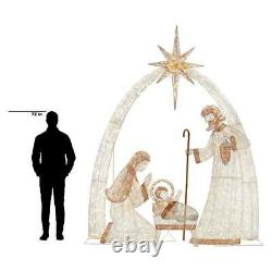 LED Christmas Ornament Giant Nativity Scene 10 ft 440 LED Lights Indoor Outdoor