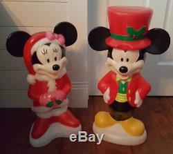 LIGHTED BLOW MOLD MICKEY AND MINNIE MOUSE Christmas Yard Decorations