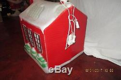 Large 27 Inch Vintage Rare Christmas School House Lighted Blow Mold -EX