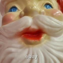 Large Blow Mold 60 Santa Claus With Light Cord Life Size 5 Tall VINTAGE