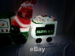 Large Lighted Santa RR Holiday Christmas Train Blow Mold Tender Car General Foam