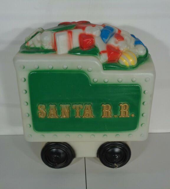 Large Lighted Santa Rr Railroad Train Tender Car Blow Mold General Foam Plastics
