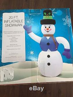 Last New HUGE 20 Foot Tall Christmas Lighted Snowman Airblown Inflatable