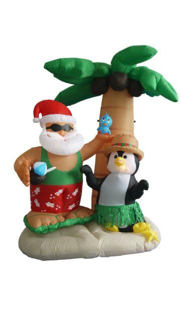 Lighted Christmas Inflatable Santa Claus Penguin Palm Tree Led Lights Decoration
