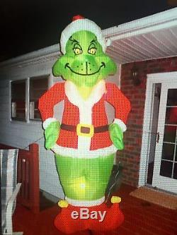 Like New Inflatable Grinch 8 feet christmas decoration gemmy airblown blow up