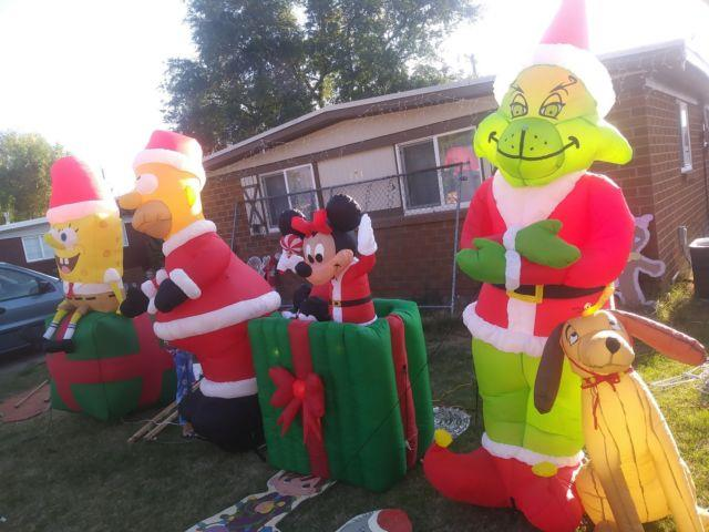 Lot Grinch Homer Spongebob Mickey Minnie Mouse Christmas Inflatable Outdoor