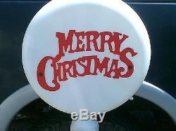 Merry Christmas & Reindeer Parking 54 Union Lollipop Lighted Blow Mold