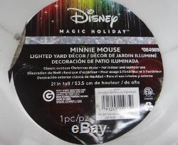Mickey & Minnie Mouse Lighted Christmas Blow Mold Outdoor Yard Decor #1