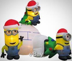Minions Igloo Scene Christmas Inflatable 8 ft. Airblown LED Lights Up Decor
