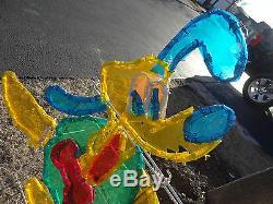Mr Christmas Disney Santa Mickey Mouse Pluto Light Rope 3D Sculpture Decoration