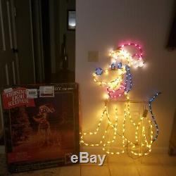 Mr Christmas Disney Santa Mickey Mouse Pluto Light Sculpture Decoration vintage