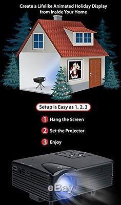 Mr. Christmas Virtual Holiday Projector Kit, Black