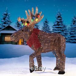 NEW Christmas BIG 45 Glitter String Moose 250 LED Light Outdoor Home Yard Decor