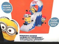 NEW Despicable Me Minions 10ft Wide Self Inflatable AirBlown Christmas Slide