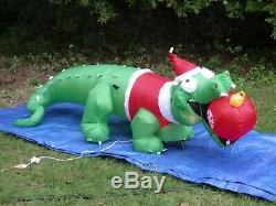 NEW Gemmy 7.5' Christmas Animated Florida Alligator Lighted Inflatable airblown