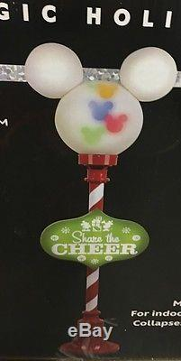 NEW Gemmy Disney Christmas Pre-Lit Lamp Post Sculpture with Color LED Lights