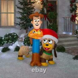 NEW! Gemmy Inflatable Toy Story 4 Slinky Woody Lights up 6 Feet Wide Christmas