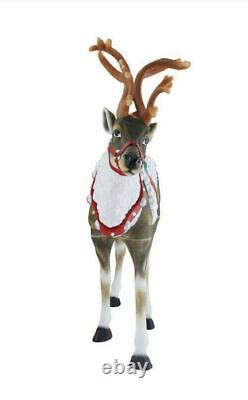 NEW LED 48 Lighted REINDEER BLOW-MOLD CHRISTMAS Yard FREE SHIPPING