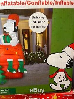 NEw 8.5ft High Peanuts Snoopy Woodstock Dog House Christmas Tree Yard Inflatable