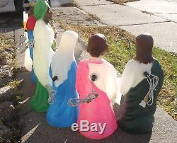 Nativity Lighted Blow Mold Set, 11 Piece, Christmas Decoration + Bonus Angel