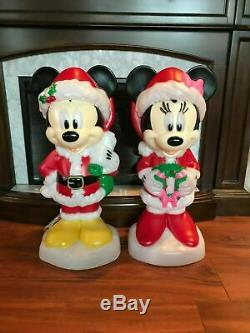 New 2019 Gemmy Christmas Blow Mold Disney Mickey & Minnie Mouse Lighted Yard