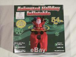 New 54 Airblown Animated Santa Snowman Reindeer Present Inflatable Outdoor Yard