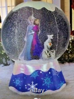 New 6 Ft Tall Christmas Disney Frozen Elsa Anna Olaf Snow Globe By Gemmy