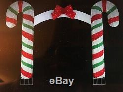 New Candy Cane Lighted Arch Christmas Holiday Outdoor Decoration
